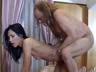 Innocent babe Marjory fucking with a naughty old man Otto and enjoying his delicious hard dagger
