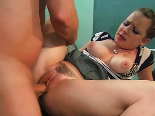 Hardcore classroom fuck with slender teacher Katie St. Ives and dude that has a big hard shaft