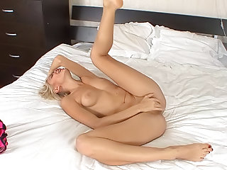 That luxury blonde in corset is Stella, take a look at how she fingering her pussy and wet horny clit