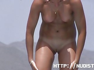 Sexy naked babes on beach candid youth video