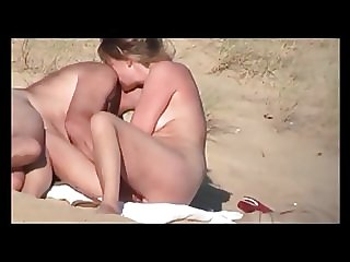 gorgeous french blonde having sex at nude beach