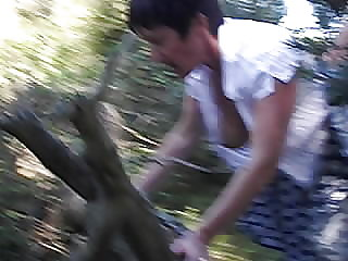 wife fucked in the forest