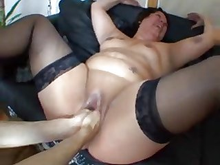 french bbw fucked and fisted in a threesome