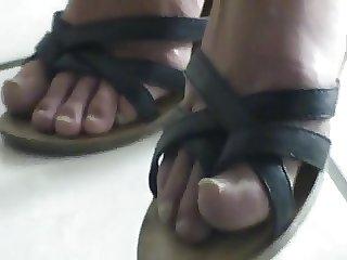 Friend's feet under the desk 3
