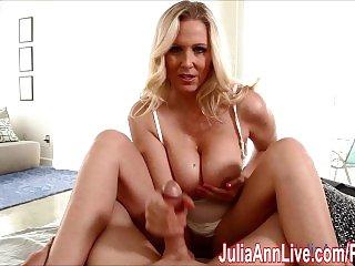 Sexy Milf Julia Ann Gives HandJob To Wake Him Up!
