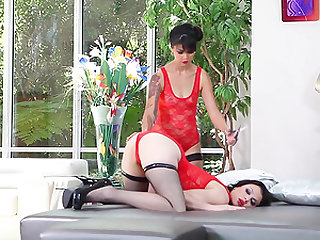 Oriental lesbians with anal fantasy