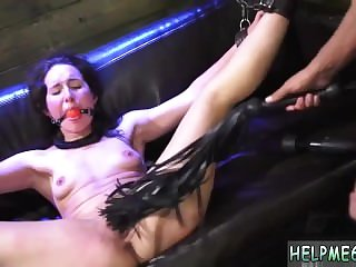 Naked bondage first time He lets her in and