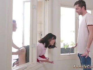 companion's step daughter fucks dad for