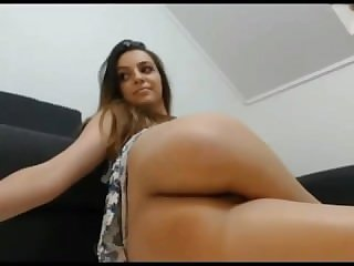 Beatiful chick fingering ass on chat