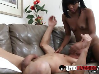 Ebony Teen Chanell Heart Getting Fucked on Sofa