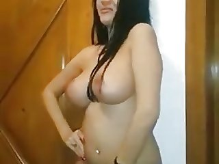 Super Hot Busty Arab MILF Dancing and Juggling Boobs