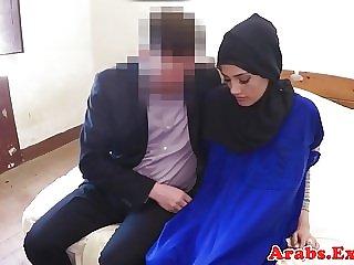 Hijab wearing muslim drools on dick