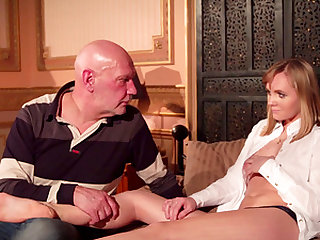 Lucette Nice's tight pussy is all a mature hunk wants to penetrate