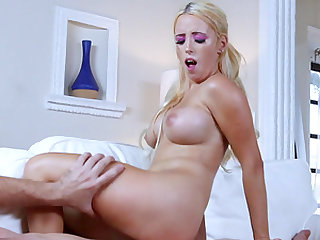 Aspen Romanoff is a hot blonde craving a hunk's hard prick
