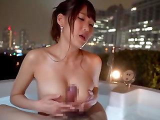 Slut Mihara Honoka having her face and tits fucked in the bathtub