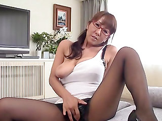 Nerdy babe Fujishita Rika gets down and dirty to please a cock
