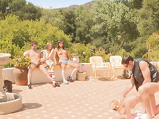 Amazing orgy outdoor experience with hot babe Nella Jay