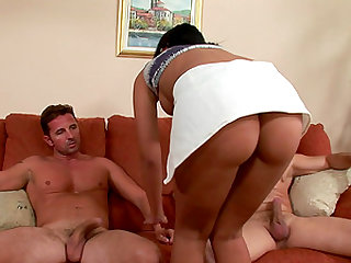 Unforgettable MMF threesome with a rapacious slut Claudia Bell