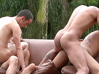 Foursome sex session is all randy men want to be a part of