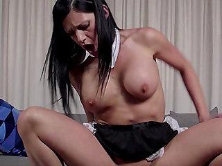 Lana Fever masturbates before bouncing on a hard boner