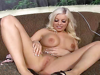 Cutie Britney Amber gets vibrated, fucked and jizzed all over her tits
