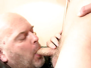 Cute gay prostitute Michael sucking a fella off for a price