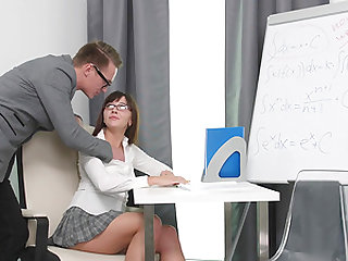 Sweet Lana in heels fucking her tutor during an important lesson