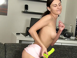 Orgasm hungry Lana Ray wants to drill her pussy with a sex toy