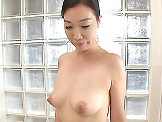 Oiling his Asian babe Gotou Chika's boobs feeling very horny