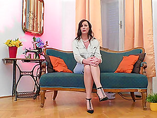 Brunette milf Lara giving dick blowjob then pounded doggystyle