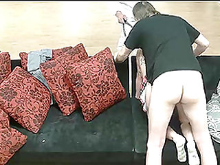 Naughty collegegirl gets it hard from behind
