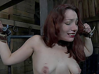 Maggie Mead ravished by a dildo and face fucked by a big dick