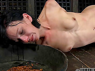 Hot babe Elise Graves treated like a dog by her kinky master