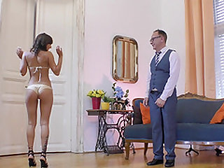 Suzy Rainbow is excited about riding a fellow's huge boner
