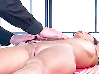 Paula Shy given superb massage then pleasured using toy