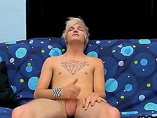 Austin Mitchell follows his boyfriend into porn with a wank