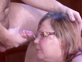 Mature cleaning lady cannot resist a hunk's erected dick