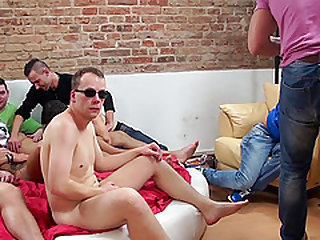 Awesome homosexual orgy with a bunch of good-looking men