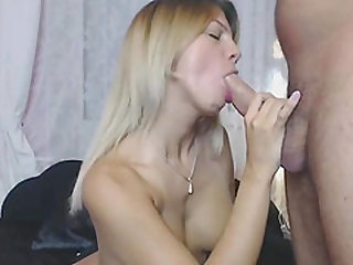 My gorgeous blonde GF really loves hardcore sex and she really enjoys gagging and fucking my monster cock.