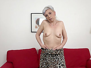 Granny Kathy White gets naked to get dicked by a black stud