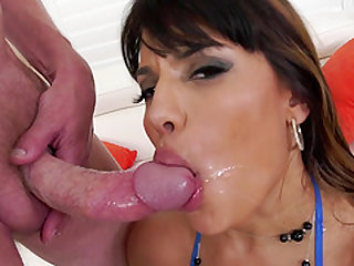Insatiable Mercedes Carrera bends over for a lover's hard pleasure rod
