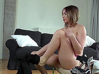 Maid Aleska screaming while monster black cock smash her