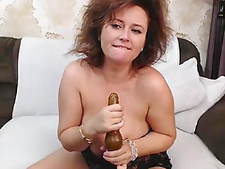 Pretty Good Huge Boobs Brunette Gets Her Tight Pink Pussy Wet