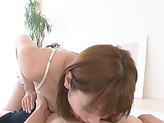 Yuma Asami tasting one by one boner of her impatient lovers