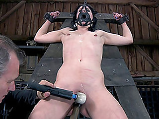 Katherine Cane natural tits getting pinned in BDSM