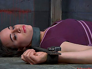 Hypnotic bondage dame anal getting toyed in BDSM porn