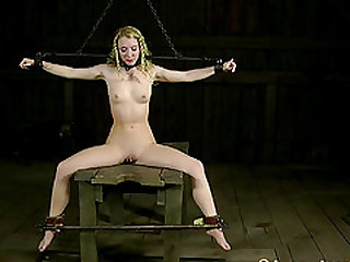 Severe bdsm treatment for Nicki Blue's nipples and pussy
