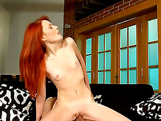 Redhead pornstar riding a dick and having a wonderful time