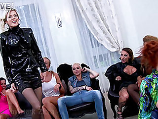 Blonde MILF in a hot group sex having a magnificent time