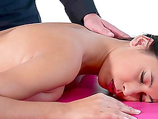 Paula Shy receiving a steamy massage that she will hard forget